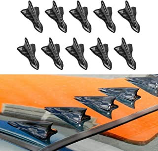 Alpha racing Air Vortex Generator Diffuser Shark Fin 10pcs Set Kit for Spoiler Roof Wing Pointed End Style Carbon Fiber Pattern