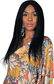 WOW BRAIDS Braided Wigs, Micro Million Braid Wig - Color 1-18 Inches. Synthetic Hand Braided Wigs for Black Women.