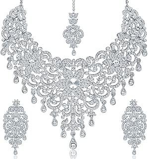 Sukkhi Jewellery Sets for Women (White) (2164NADM2500-AMZ)