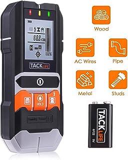 Detector de Pared, Tacklife DMS05, 4 EN 1 Detector con Pantalla LCD, Detector Clásico y Multifuncional, Buscador de Metal, Madera, AC Cable y Humedad, con Bolsa protectora