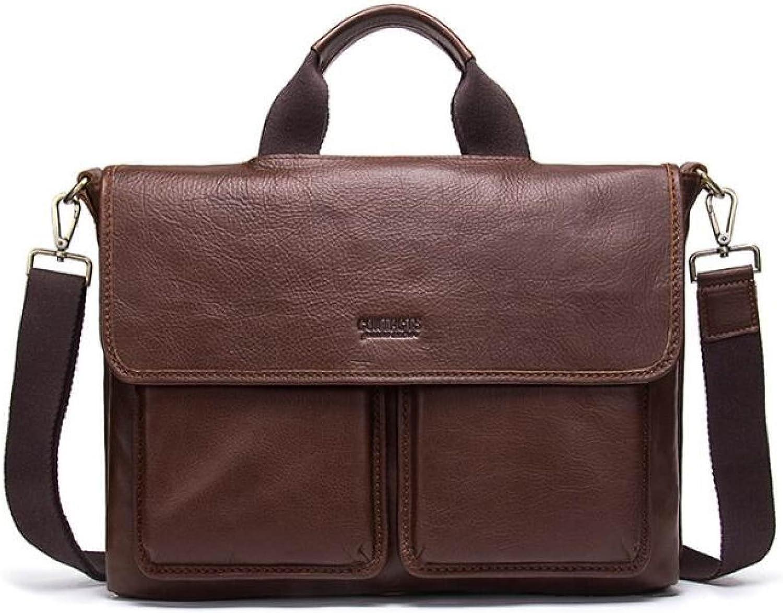 Männer Männer Männer Echtes Leder Business Aktentasche Lässig Schulter Messenger Bag Handtasche Laptop Office Bag B078WQYMJG bb387f