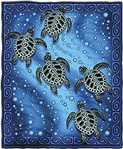 Dawhud Direct Tribal Sea Turtles Super Soft Plush Fleece Throw Blanket