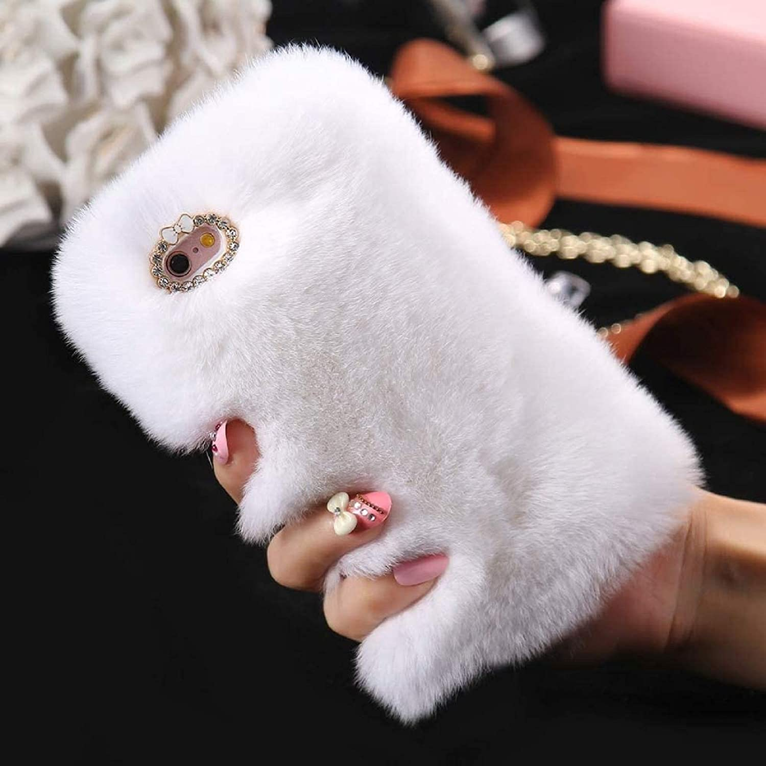 Outlet SALE Cfrau Furry Case with Black Stylus Warmed 6 5 ☆ popular for Winter Stylo LG
