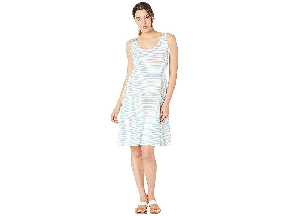 Fresh Produce Promenade Stripe Drape Dress (White) Women