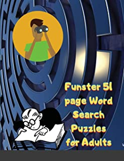 Funster 51 page Word Search Puzzles for Adults: Word Search Book for Adults with a Huge Supply of Puzzles