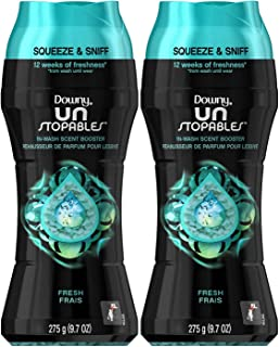 Downy Unstopables in-Wash Scent Booster Beads, Fresh, 9.7 Ounce (Pack of 2)