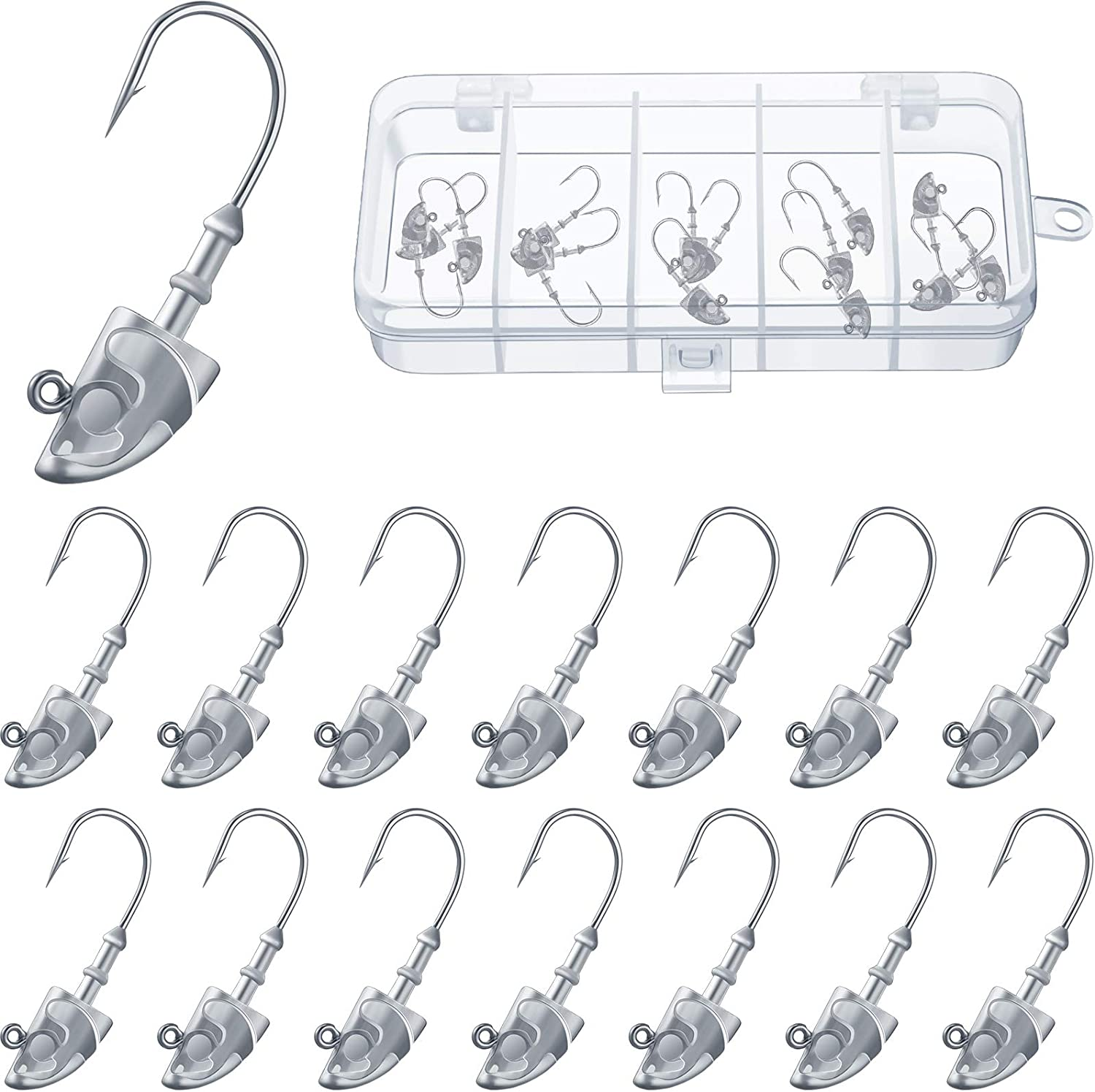 15 Pieces Swimbait Jig Head Hoo Bait Weighted At the price of surprise Lead online shopping
