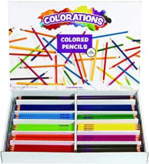 Colorations Presharpened Hexagon Colored Pencils Pack of 240 (Item #CPPENCIL)