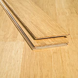 Ambient Bamboo - Bamboo Flooring Sample, Color: Natural 6 FT Lengths, Engineered Click Lock