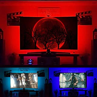 TV Backlight Kit for 32-43 inch HDTV USB LED Strip Lights for Home Theater Ambient Lighting Color Changing TV Wall Behind Lights Reduce Eye Strain
