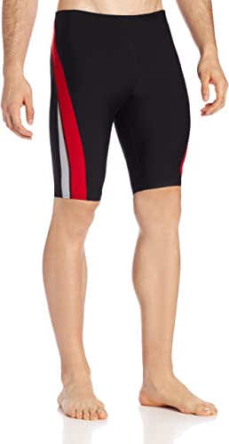 Speedo Hommes's Endurance+ Launch Splice Jammer maillot de bain, noir rouge, 34