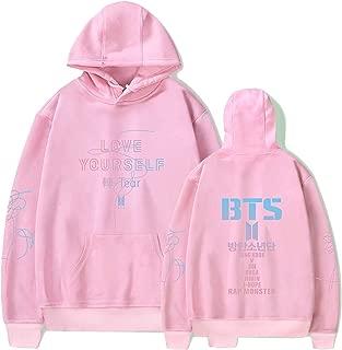 Kpop BTS Hoodie Love Yourself Pullover Rap Monster Suga V Jimin Jungkook Casual Hooded Sports Sweatshirt