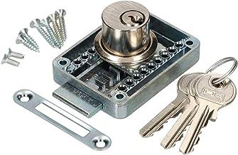 KOTARBAU® Meubelslot regelbaar 15 – 40 mm links en rechts opschroefslot met 3 sleutels cilindermeubelslot kastslot slot la...