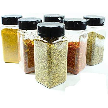 Ash & Roh Glass Salt And Pepper Shake- 120 ml, 6 Pieces, Multicolour