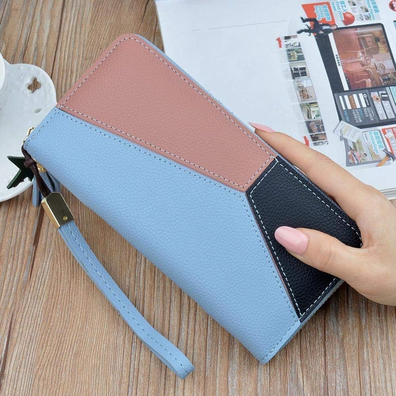 Girls Purse Women's Wallet,Ladies Wallet Large Zipper Multifunctional Hand Bag Female Bulk Wallet PU Leather (color   C)