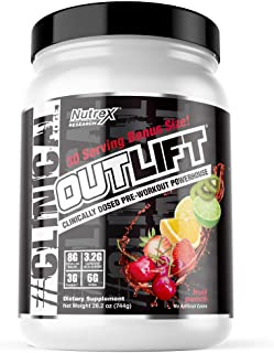 Nutrex Research Oulift Bonus Size | Clinically Dosed Pre-Workout Powerhouse, Citrulline, BCAA, Creatine, Beta-Alanine, Tau...