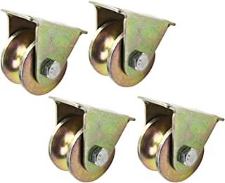Heavy Duty wielen, U-groef Caster wiel, Directional Sheave, Track Wheel, U-vormige montageplaat ontwerp, Stille beweging