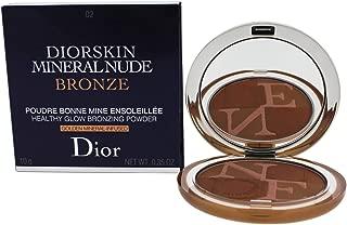 Christian Dior Diorskin Mineral Nude Bronze Powder 002 Soft Sunlight for Women, 0.35 Ounce