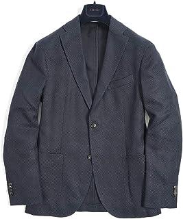 [ボリオリ] K.JACKET ケージャケット テーラード スーツ 2Bシングル 春夏 3シーズン メンズ リネン コットン ネイビー 無地 イタリア ブランド アンコンジャケット [48] 【並行輸入品】