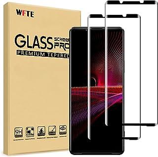 WFTE [2-pack skärmskydd för Sony Xperia 1 III 3D heltäckande, repskydd, hög transparens, anti-fingeravtryck, bubbelfri, pr...