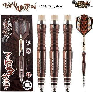 Shot! Darts Tribal Weapon-Steel Tip Dart Set-Centre Weighted-90% Tungsten Barrels