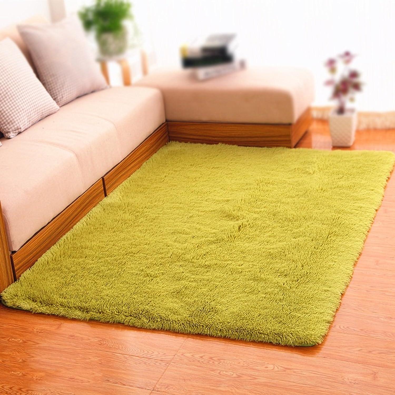 XIN-Carpet Alfombra Rectangular verde Alfombra Lavable Sala de Estar sofá Mesa de Centro Alfombra de Dormitorio Manta de Cama de Color sólido tocador alfombras nios alfombras de rastreo