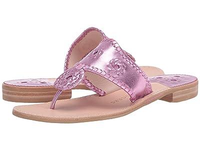 Jack Rogers Metallic Jacks (Light Pink) Women