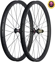 JIMAITEAM 29er Mountain Bike Carbon Wheelset Tubeless Ready 35mm Width Rim AM Disc Brake Wheels