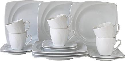 Preisvergleich für Creatable 13161, Serie Celebration Weiss, 18tlg Kaffeeservice, Porzellan, 31.5 x 26 x 27 cm, 18-Einheiten