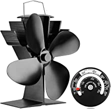 Valiant Magnetic Flue Pipe Stove Fan and Magentic Red Thermometer Pack,FIR628