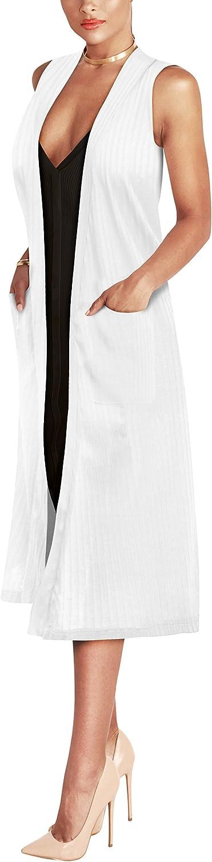 Hybrid & Company Women's Vest Jacket Cardigan Blazer with self Fabric Belt Made in USA