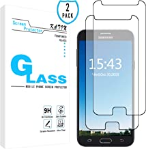 KATIN Galaxy J7 2017 Screen Protector - [2-Pack] Tempered Glass for Samsung Galaxy J7 Prime / J7 Perx / J7 Sky Pro / J7 V / J7 Perx Easy to Install, Bubble Free with Lifetime Replacement Warranty
