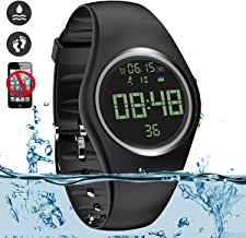 feifuns Non-Bluetooth Fitness Activity Tracker, IP68 Water-Resistant Pedometer Watch with Vibration Alarm Clock/Timer [No app,No Phone Need] Good for Walking Running Kids Men Women