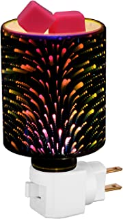 Hongking Candle Warmer Pluggable Fragrance Wax Melt Warmers, Glass 3D Effect Night Light