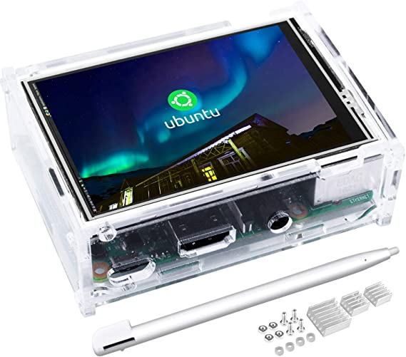 kuman 3.5 Inch Touch Screen with Protective Case 320x480 Resolution TFT LCD Display for Raspberry Pi 3B+