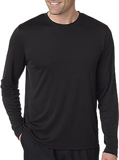 Hanes Cool DRI'Performance mens Long-Sleeve T-Shirt,Black,Small