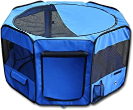 """ESK Collection 45"""" Pet Puppy Dog Playpen Exercise Puppy Pen Kennel 600d Oxford Cloth Blue"""