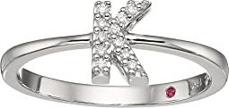 Tiny Treasure Initial K Love Letter Ring