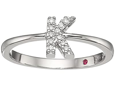 Roberto Coin Tiny Treasure Initial K Love Letter Ring (White Gold) Ring