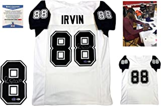Michael Irvin Signed Custom Jersey - Beckett - Autographed w/ Photo - White TB