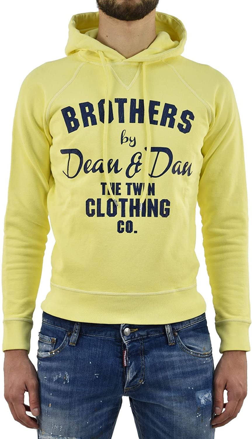 Dsquared2 Sweater Twin Clothing Men  Size  M  color  Yellow  New