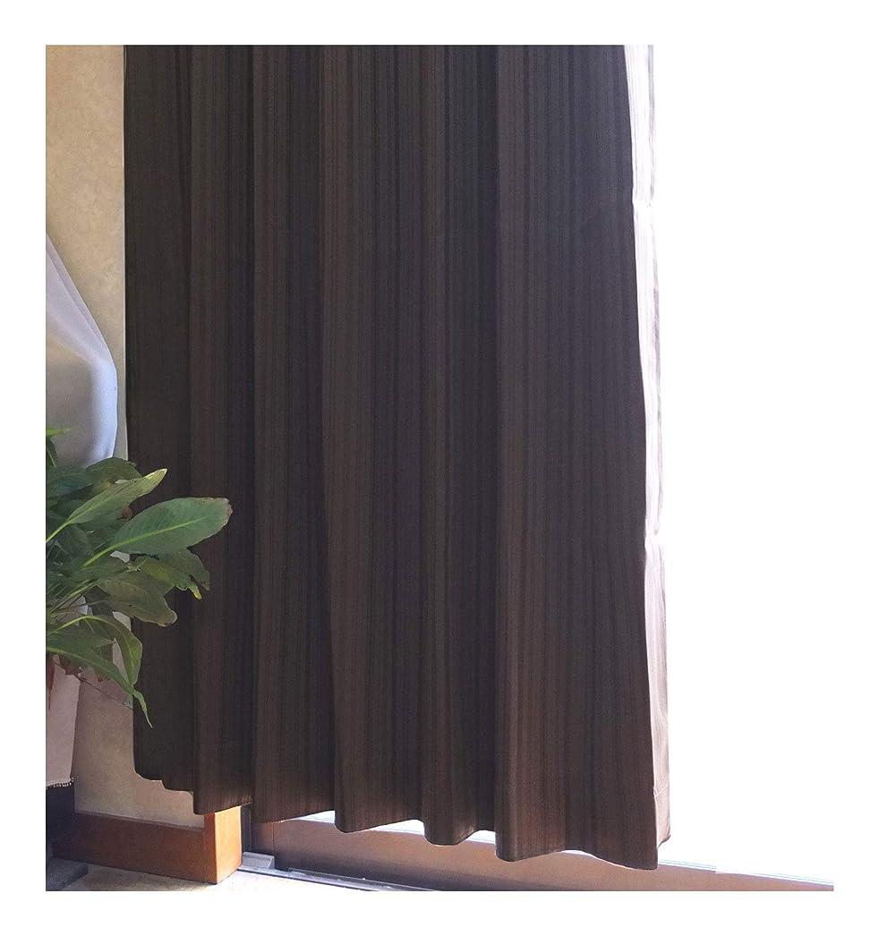 改修拷問本会議ドレープカーテン ノーブル 選べる3サイズ3カラー (ブラウン, 100×135cm(2枚セット))