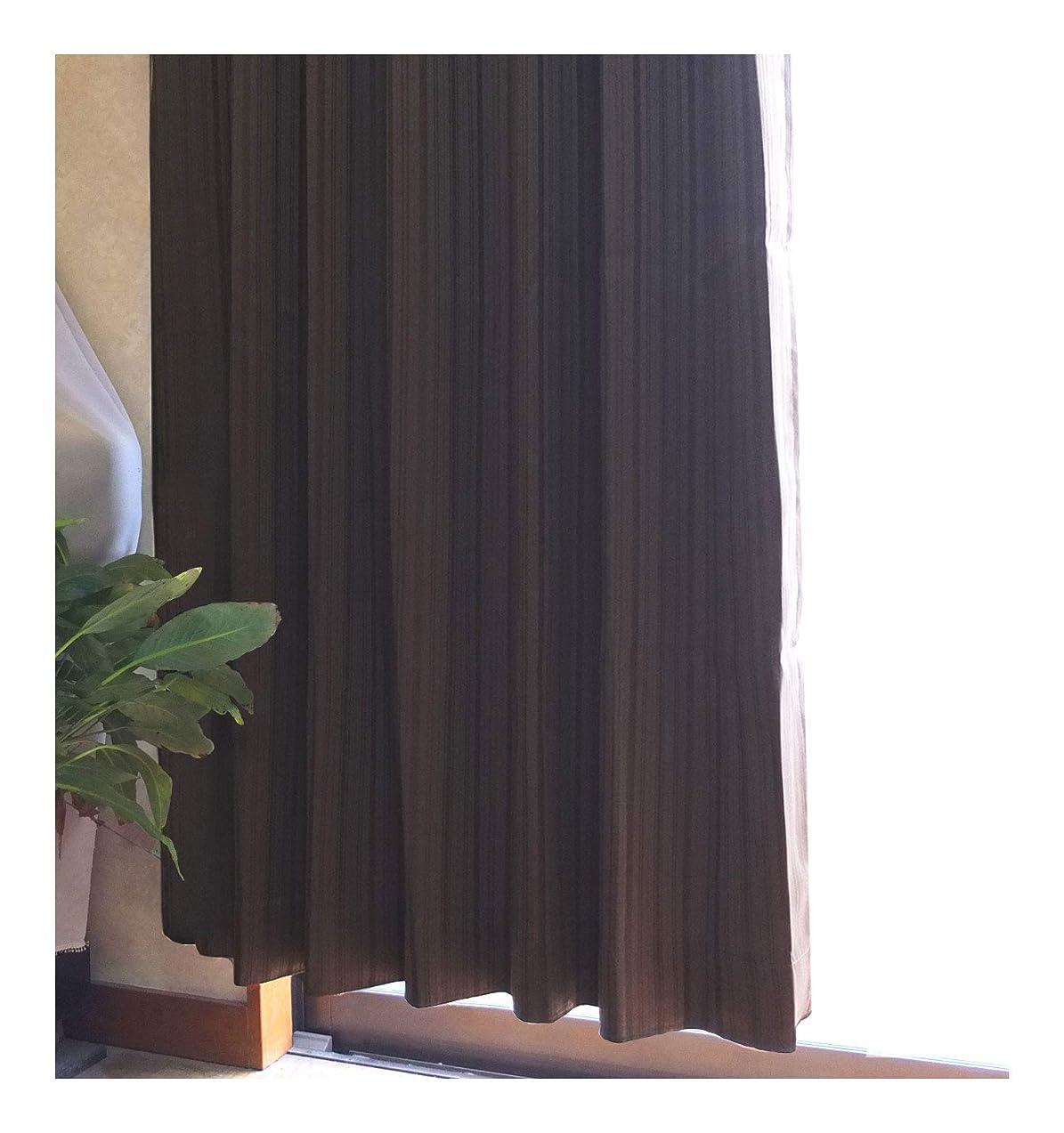 うなる追い出す発生器ドレープカーテン ノーブル 選べる3サイズ3カラー (ブラウン, 100×135cm(2枚セット))