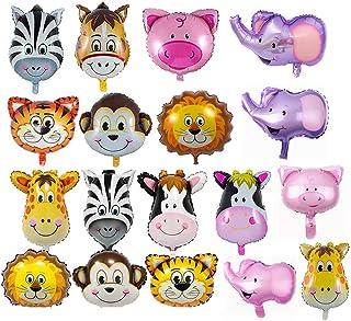 REYOK Globos Animales 18 Piezas Globo de Aluminio Animal Cumpleaños Globos, Decoración de la Fiesta de Cumpleaños de los N...