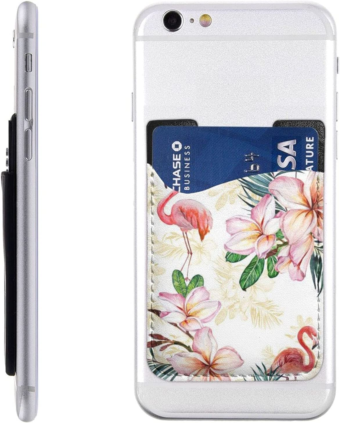 Same day shipping Flamingo Flowers Phone Card Holder Wall On Stick Regular discount Cell