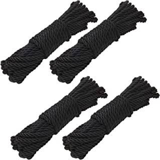 4 PCS Cotton Soft Rope 32 Feet/10M 5mm Rope Craft Rope Polyester Twine Cord Rope, Multipurpose Rope