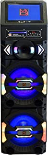 "Mr. Dj Big Show 3-Way Dual Portable Active Speaker, Max Power 5000 Watts P.M.P.O, 12"" LCD DVD Player Bluetooth Technology (BIGSHOW)"