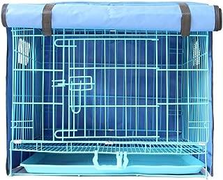 KAMA BRIDALペットケージカバー 鳥 猫 犬 兎 ケージカバー 防寒保温 安眠 防水 通気 シール空間 前開き 折りたたみ式 ブルー S