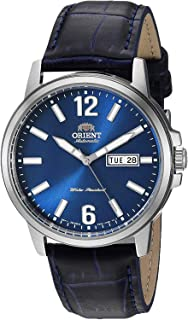 Orient Stainless Steel Japanese Automatic Leather Calfskin Strap, Blue, 8.25 Casual Watch (Model: RA-AA0C05L19A)