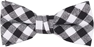 black and white gingham bow tie